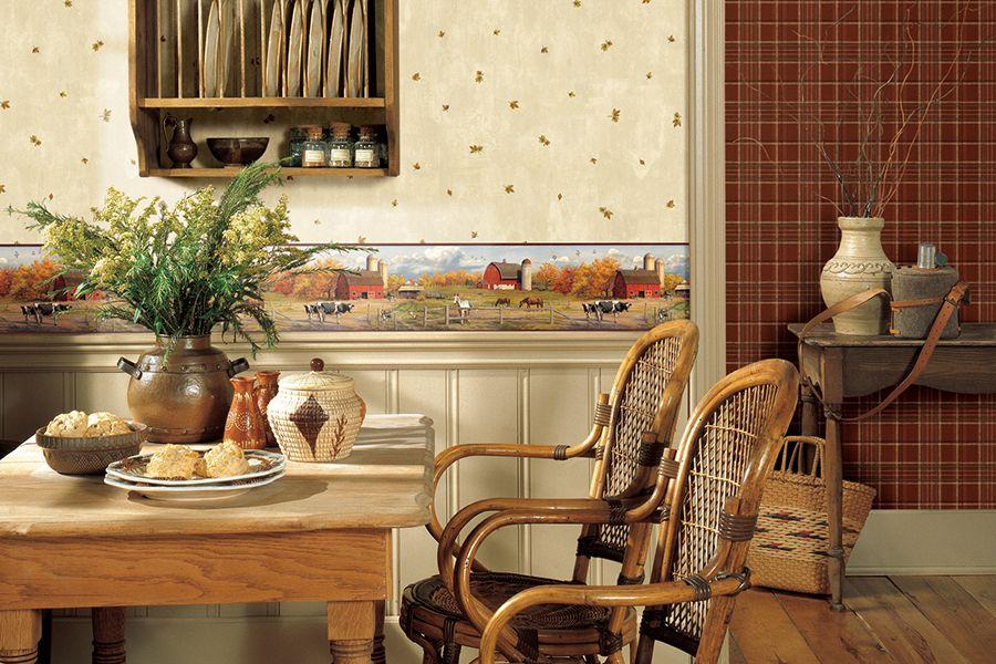 Des papiers peints de différents motifs vous permettront de présenter la cuisine sous le jour le plus favorable, en soulignant sa dignité