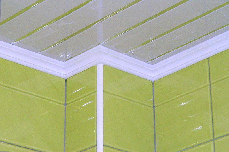 Types de plinthes pour plafonds tendus - Corniche en plastique