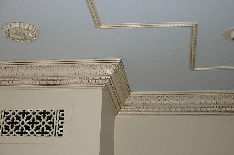 Types de plinthes pour plafonds tendus - Bordures en polystyrène