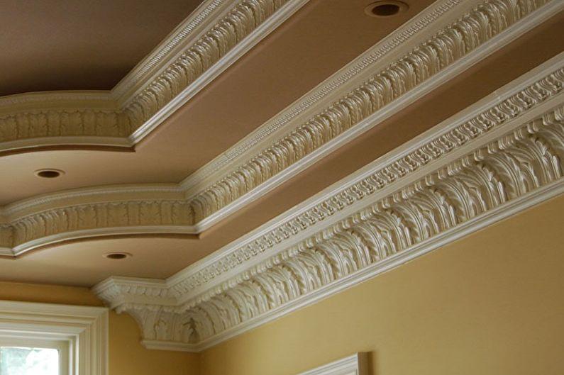 Types de plinthes pour plafonds tendus - Plinthes en polyuréthane