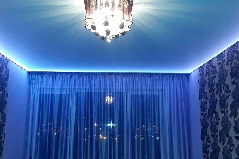 Plinthe pour plafond tendu rétroéclairée