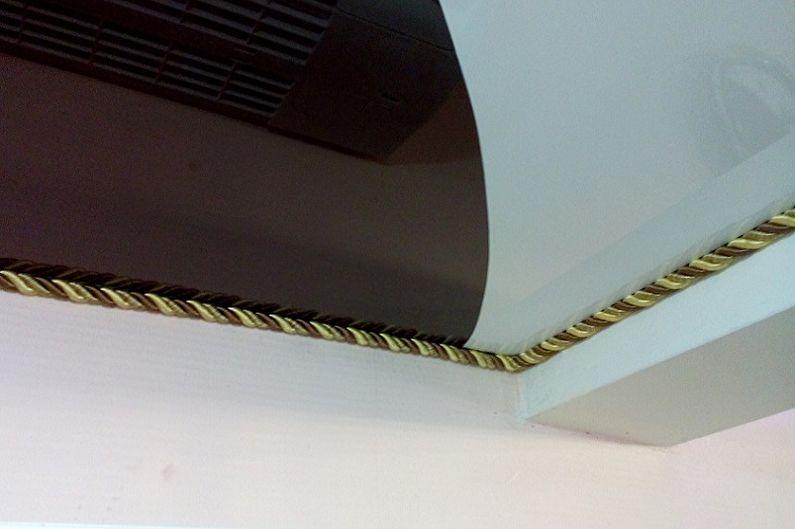 Types de plinthes pour plafonds tendus - Cordon décoratif