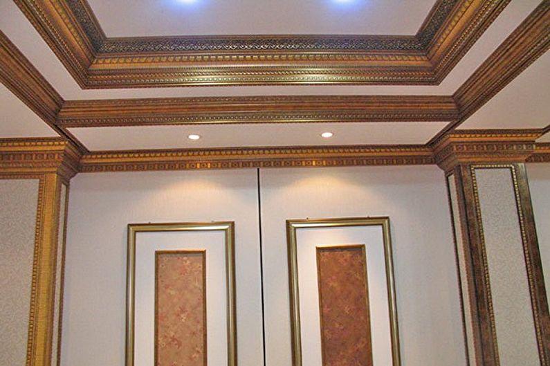 Types de plinthes pour plafonds tendus - Corniches en bois