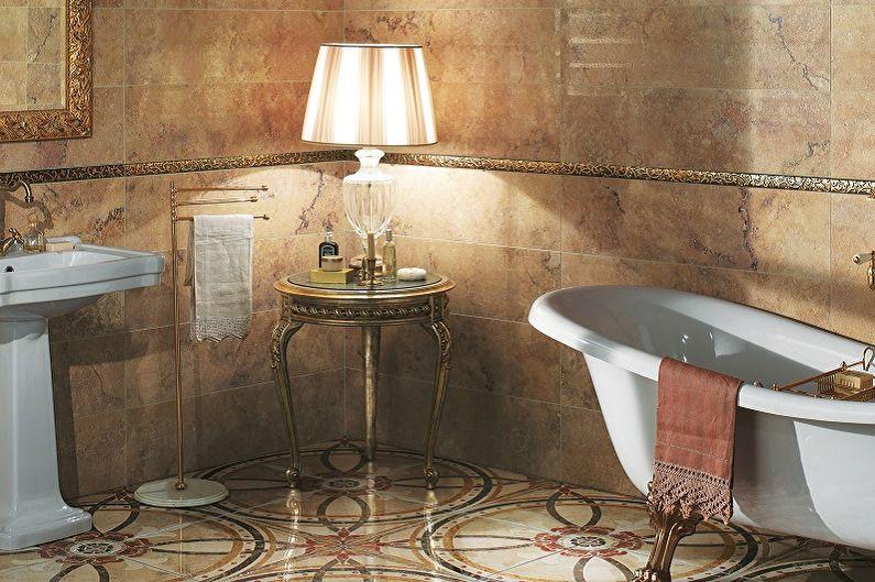 Types de carreaux de sol de salle de bain - Carreaux émaillés