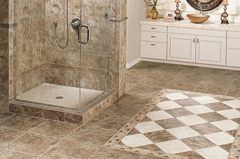Types de carreaux de sol de salle de bain - Carreaux pressés