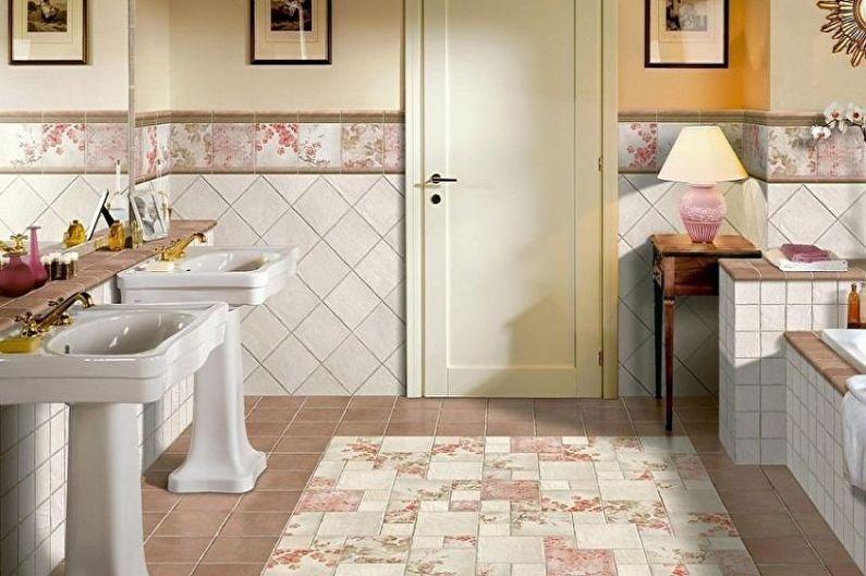 Types de carrelage de salle de bain - Carrelage sans émail