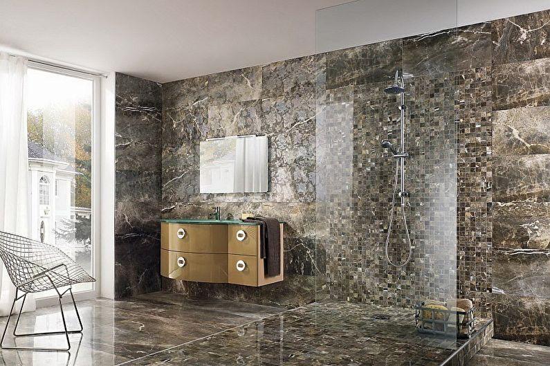 Types de carreaux muraux de salle de bain