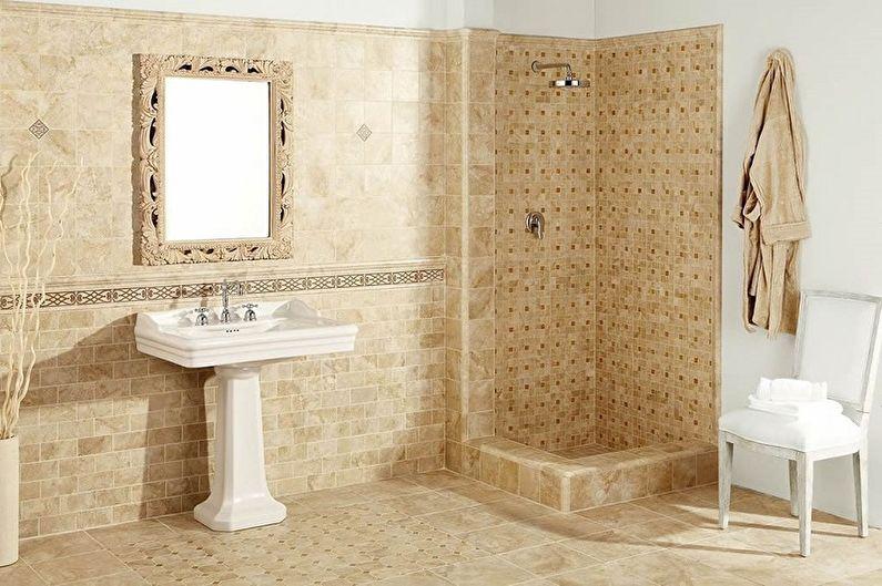 Types de carreaux de sol de salle de bain - Carrelage Metlakh