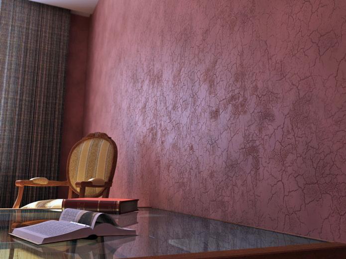 murs avec effet craquelé