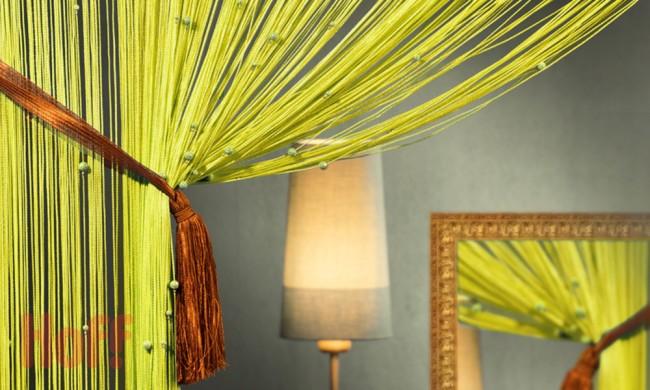 Les rideaux en filament nous sont venus de l'Est et sont aujourd'hui très populaires dans les pays européens.