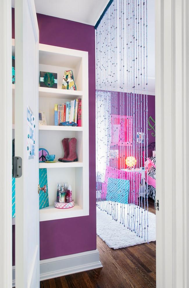 Les rideaux à filament s'intègrent parfaitement dans le design d'une chambre d'enfant et ravissent les enfants