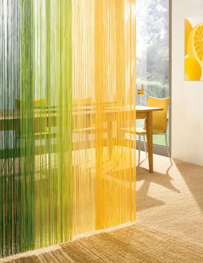 Les rideaux de corde sont très populaires en raison de leurs qualités.