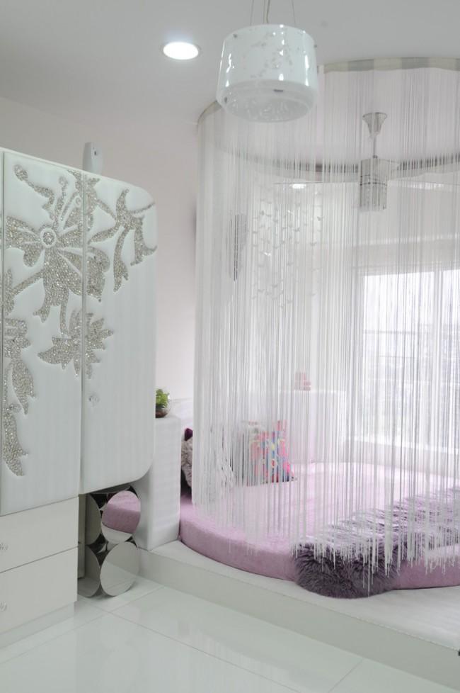 Création d'un coin nuit avec des rideaux de corde
