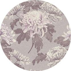 Motif floral sur papier peint