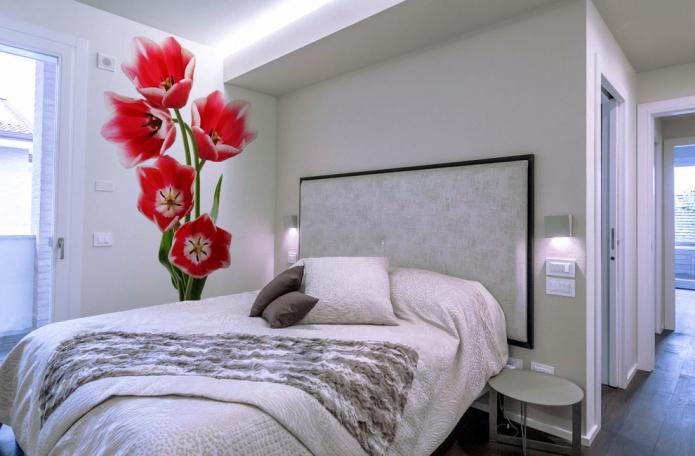image volumétrique de tulipes