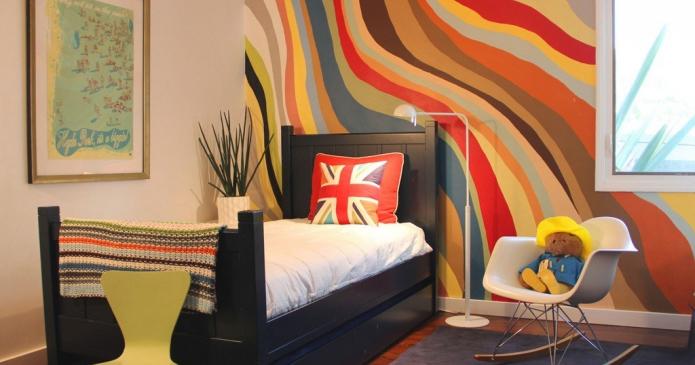 papier peint avec motif abstrait