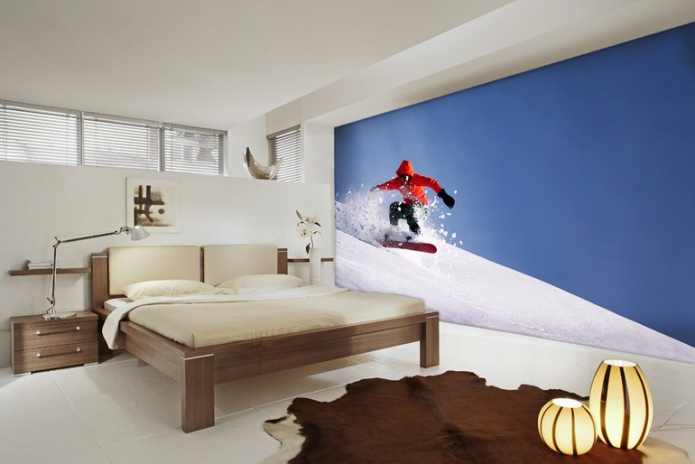 snowboarder sur la pente