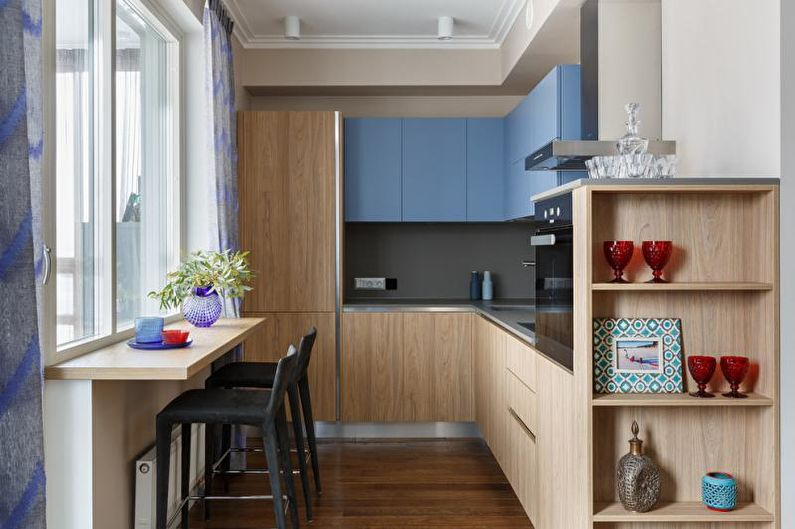 Conception de cuisine bleue - Combinaisons de couleurs
