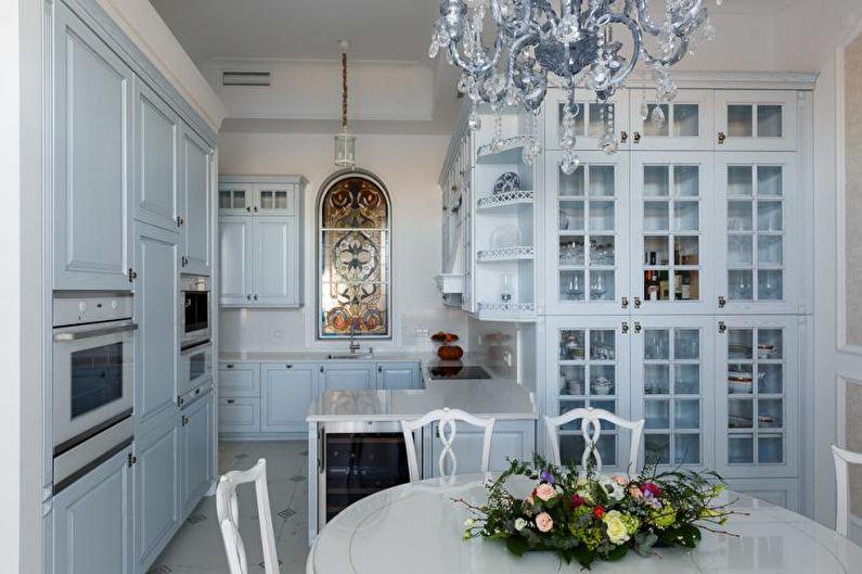 Cuisine bleue classique - Design d'intérieur