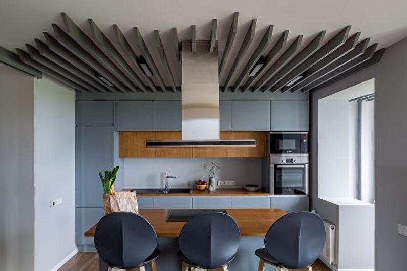 Cuisine bleue dans un style moderne - Design d'intérieur