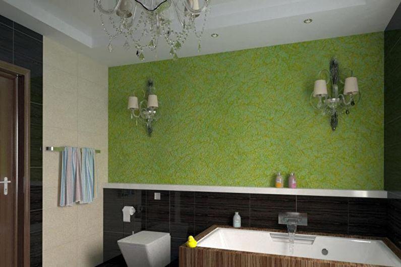 Conception de salle de bain combinée - Décoration murale
