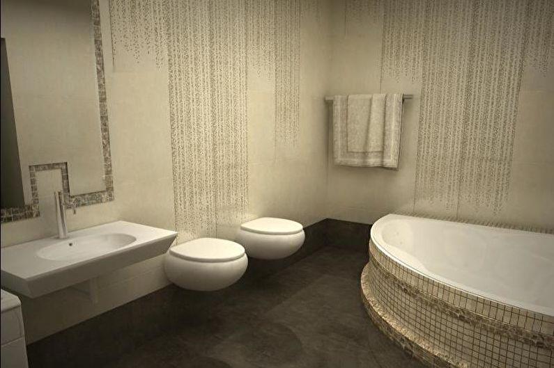 Conception de salle de bain combinée - Finition de sol
