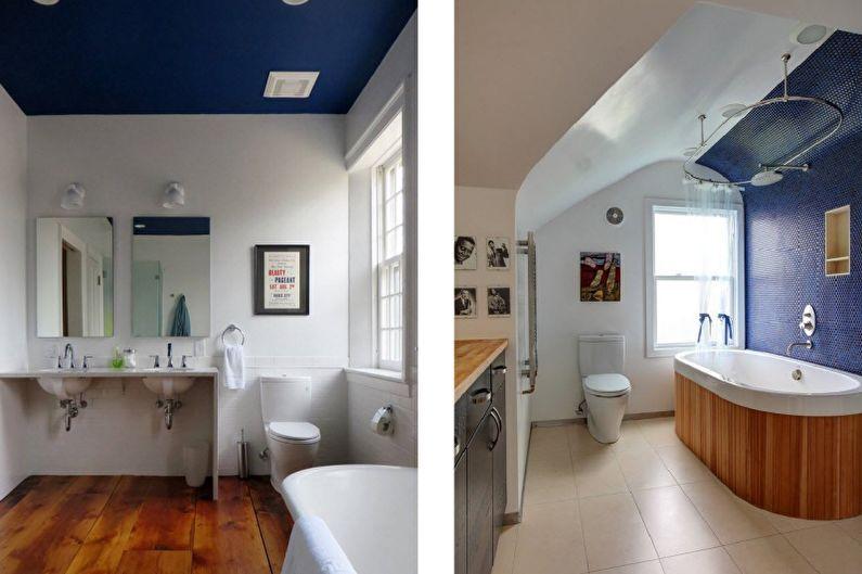 Conception de salle de bain combinée - Décoration de plafond