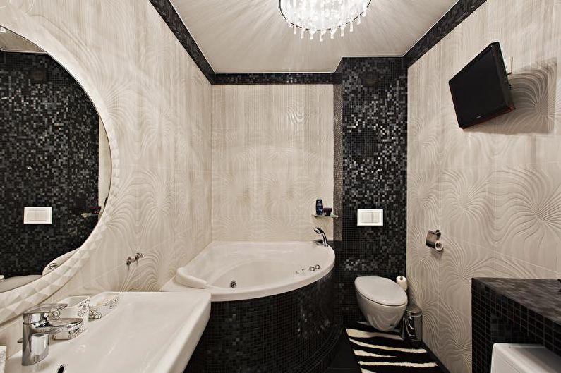 Salle de bain combinée dans un style moderne - Design d'intérieur