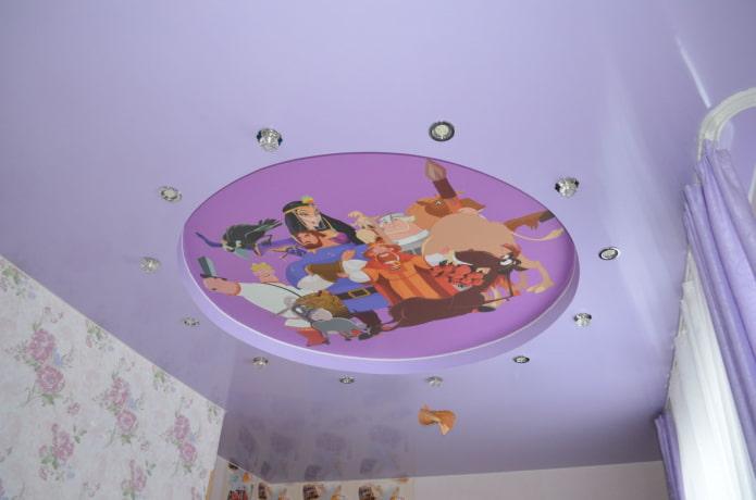 structure de plafond lilas dans la pépinière
