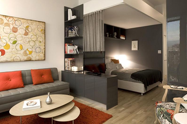 Chambre-salon de style moderne - Design d'intérieur