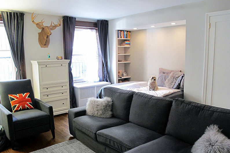 Zonage salon-chambre - Meubles