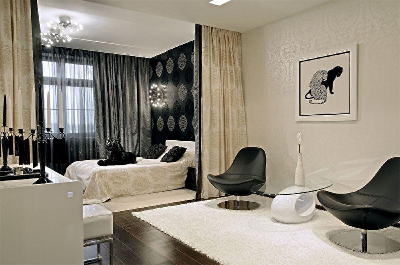 Chambre-salon de style classique - Design d'intérieur