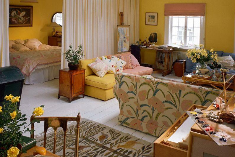 Conception de salon de chambre à coucher - Palette monochrome