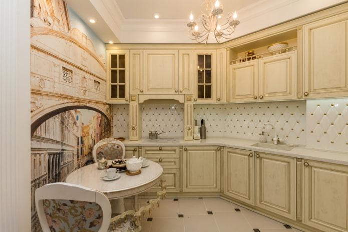 finition de la cuisine dans des tons beiges