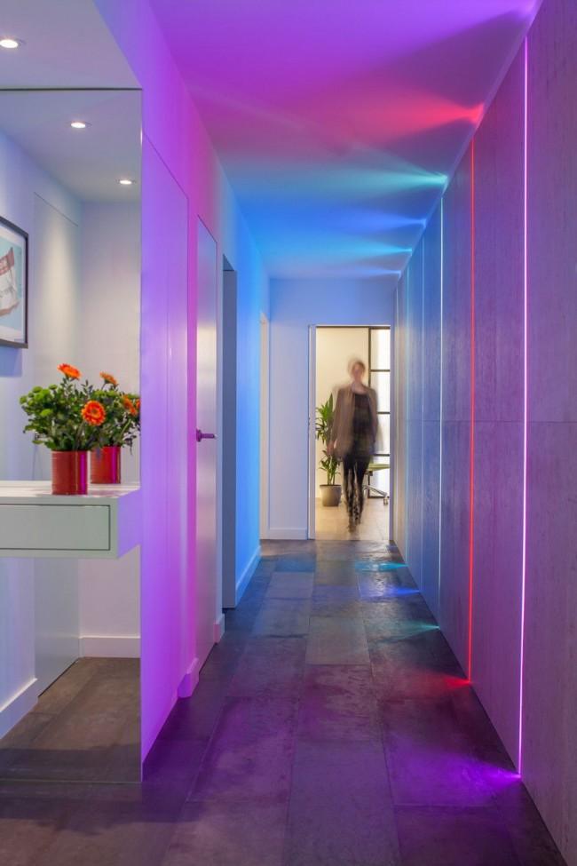 Un hall d'entrée qui peut changer de couleur selon votre humeur