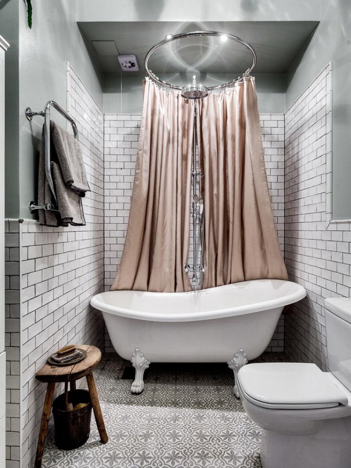 Rideau de douche luxueux