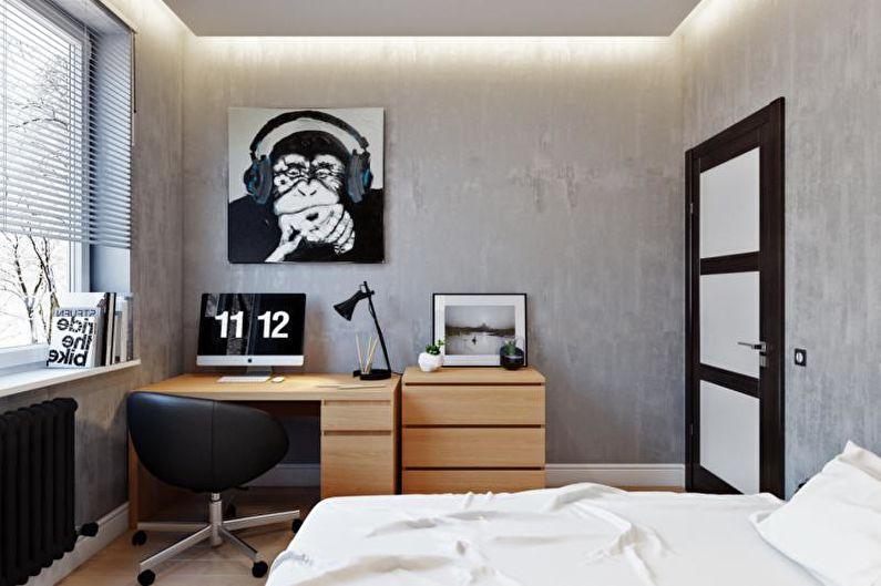 Chambre d'adolescent minimaliste - Design d'intérieur