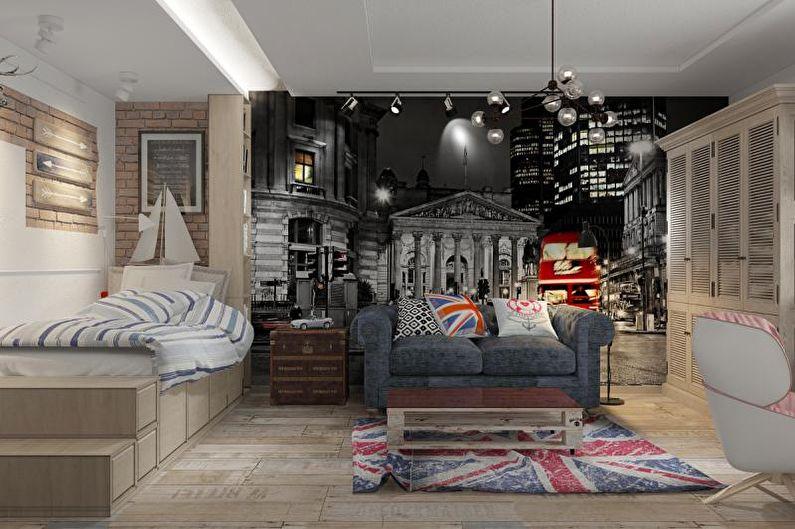 Chambre Ado Garçon Style Loft - Design d'Intérieur