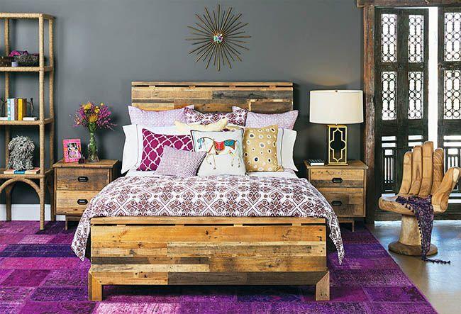 Beau lit de palette