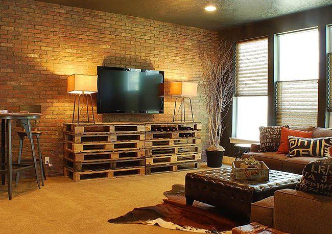 Une margelle en palettes s'intégrera harmonieusement dans le style loft