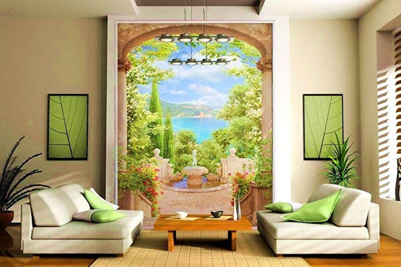 Fresques murales en intissé