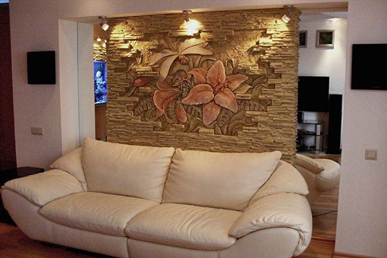 Fresque au mur sur plâtre élastique