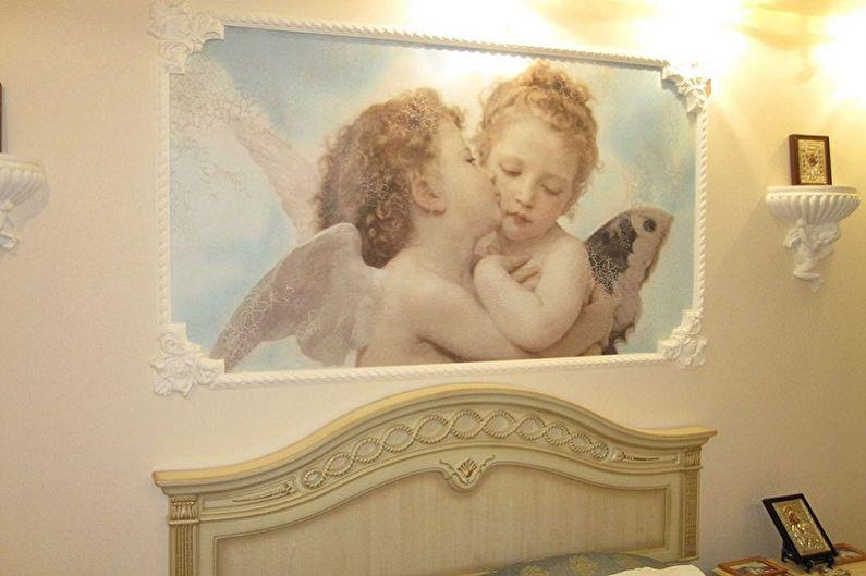 Peinture murale sur le mur sur toile