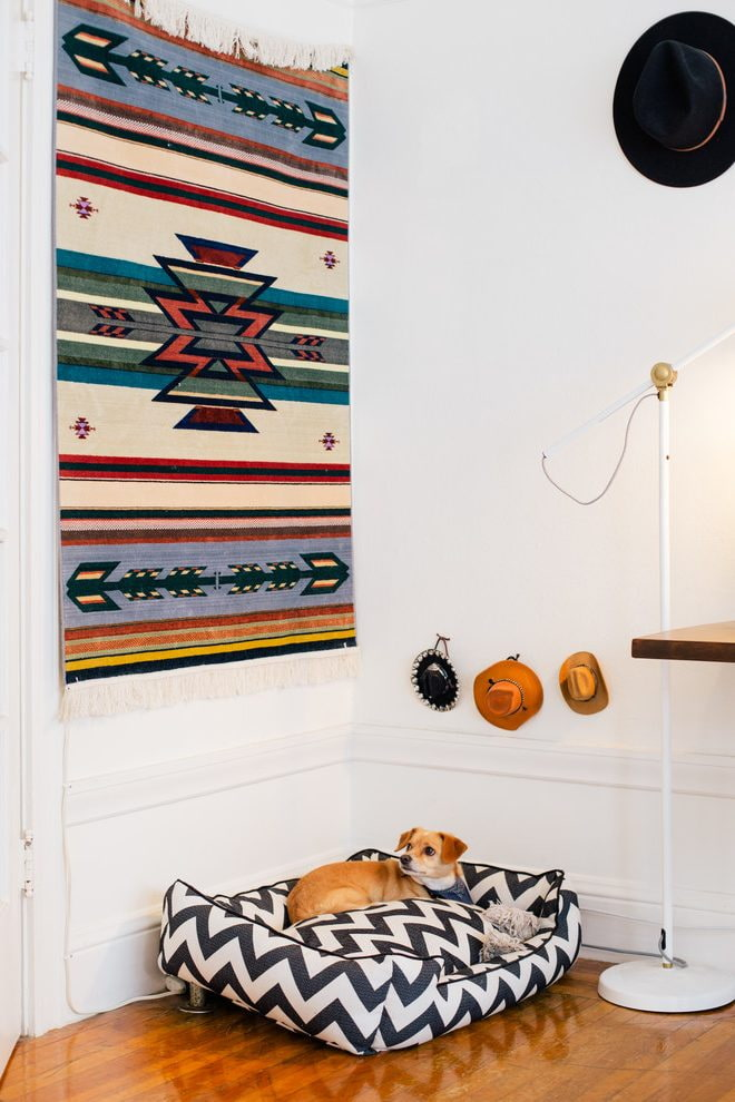 tapis sur le mur à l'intérieur