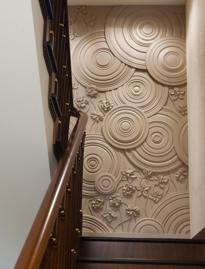 panneau décoratif sur le mur à l'intérieur