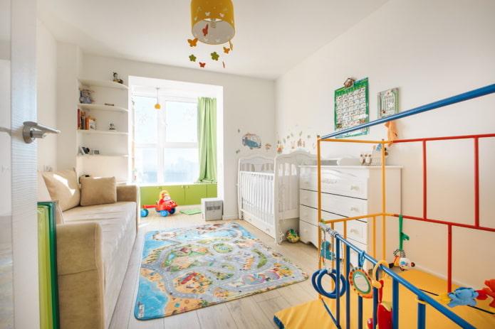 aménagement et zonage de la crèche pour l'enfant