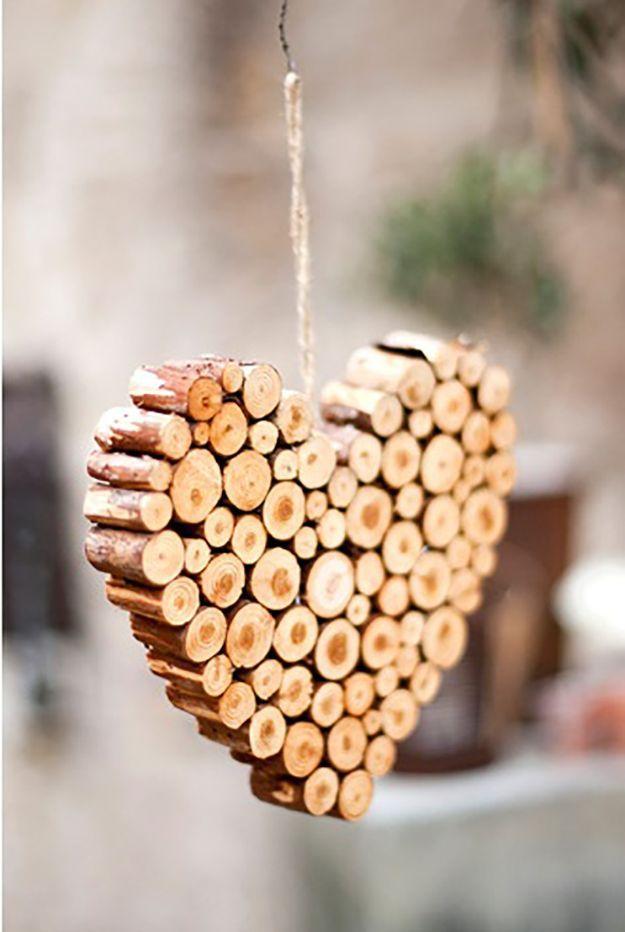 Coeur original en bois