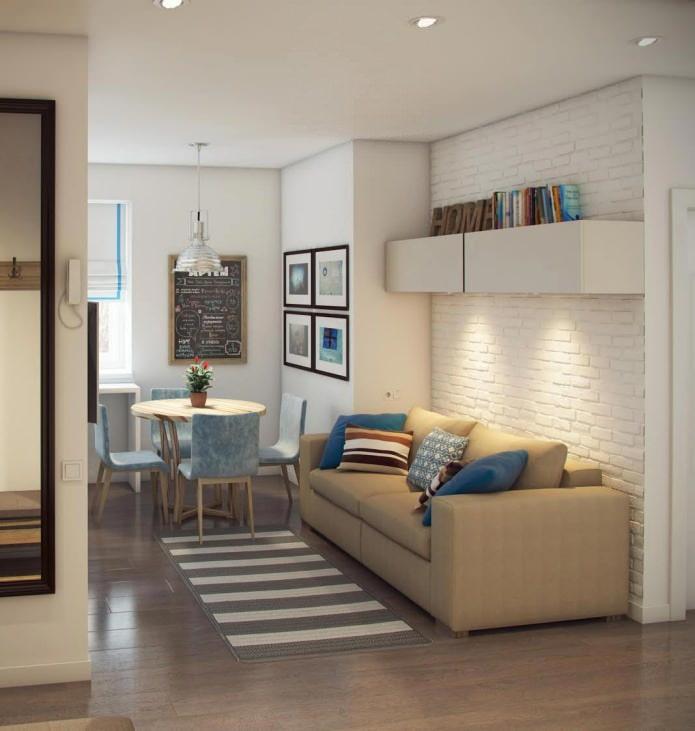cuisine-salon design 14,4 m²  m.