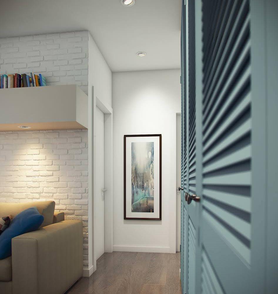 conception d'un appartement de deux pièces 52 m².  m.