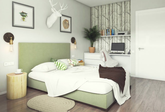 conception de chambre 13 m².  m.